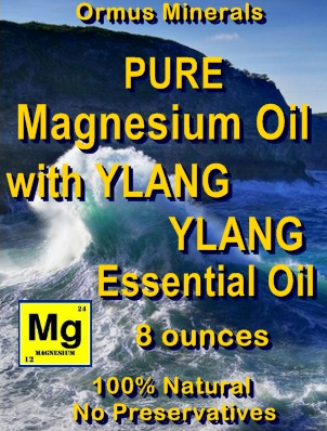 Ormus Minerals -Pure Magnesium Oil with YLANG YLANG EO